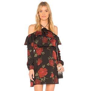 Cupcakes & Cashmere Rose Floral Halter Dress